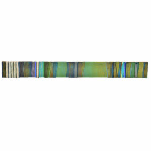long fused glass wall piece