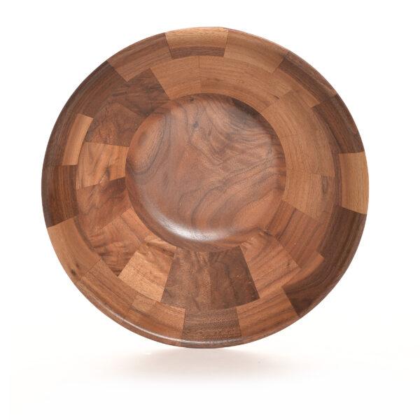 turned black walnut segmented bowl