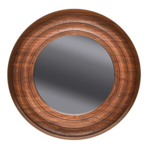 black walnut handmade turned mirror