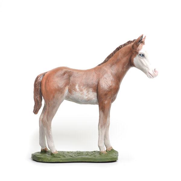 handmade painted horse sculpture