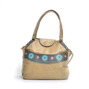 tan crossbody handmade leather satchel