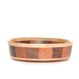 maple handmade wooden turned segmented bowl