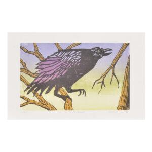 handmade crow print