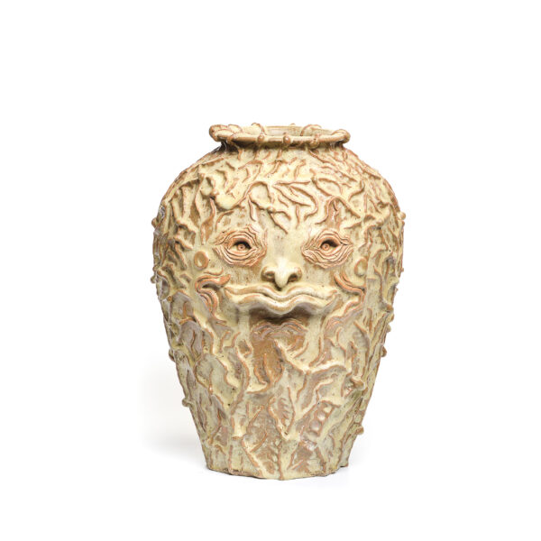 face jug vase, stoneware handmade vase