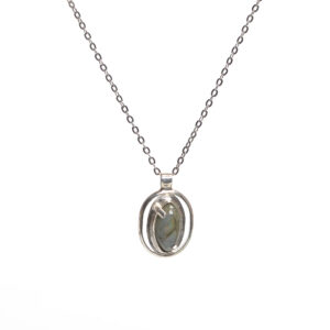 labradorite handmade silver pendant