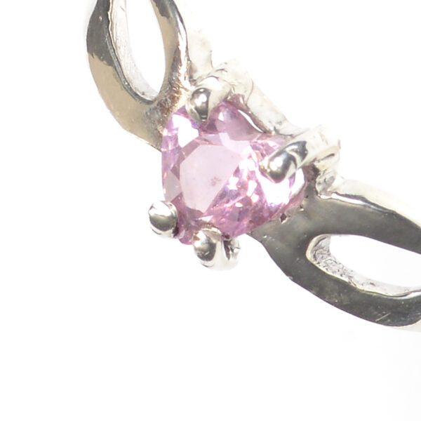 handmade silver ring with heart amethyst gemstone