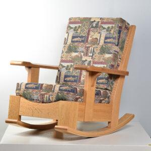 handmade white oak rocking chair