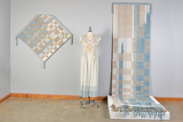 handmade fiber gown, receiving blanket and burial shroud
