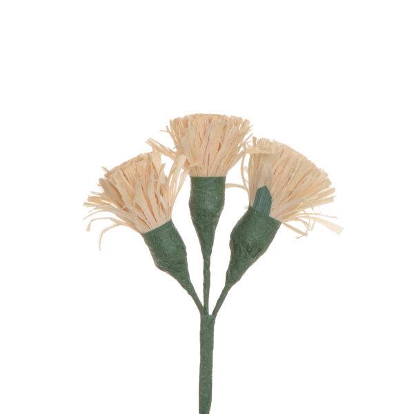 natural handmade corn shuck button flowers