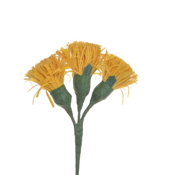 yellow handmade corn shuck button flowers