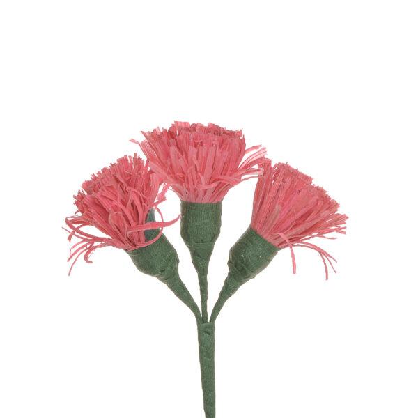 pink handmade corn shuck button flowers