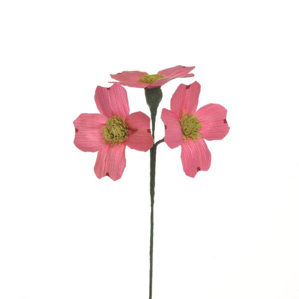 pink handmade corn shuck dogwood flower, appalachian crafts