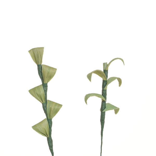 handmade corn shuck greenery for bouquets