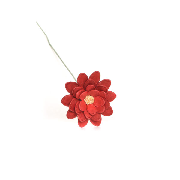 red flower made using dyed pumpkin seeds and sesame seeds