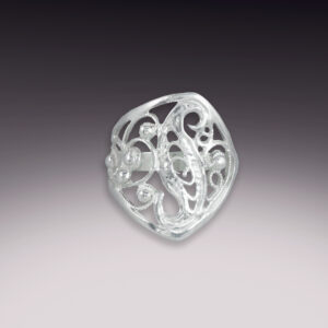 sterling silver filigree ring size 6