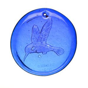 cobalt blue glass suncatcher by blenko, wv glass