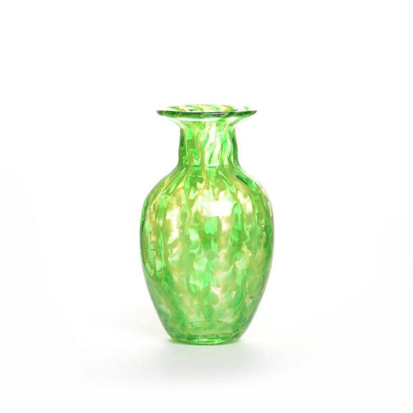 handmade green glass small vase
