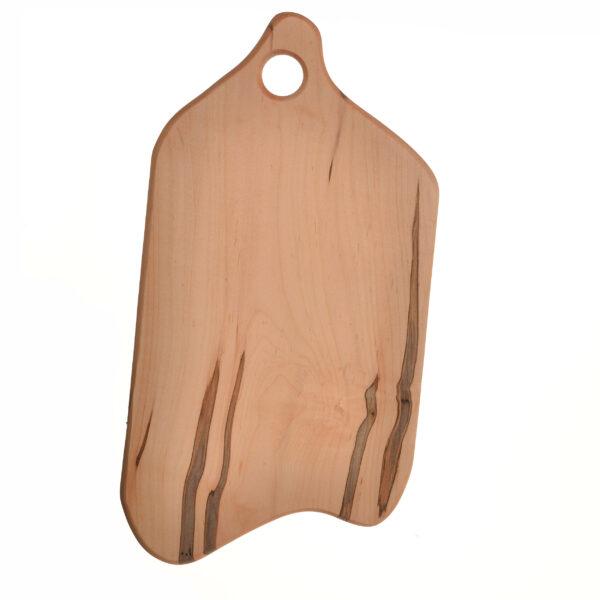 hanging asymmetrical wooden cutting board, handmade hanging charcuterie platter
