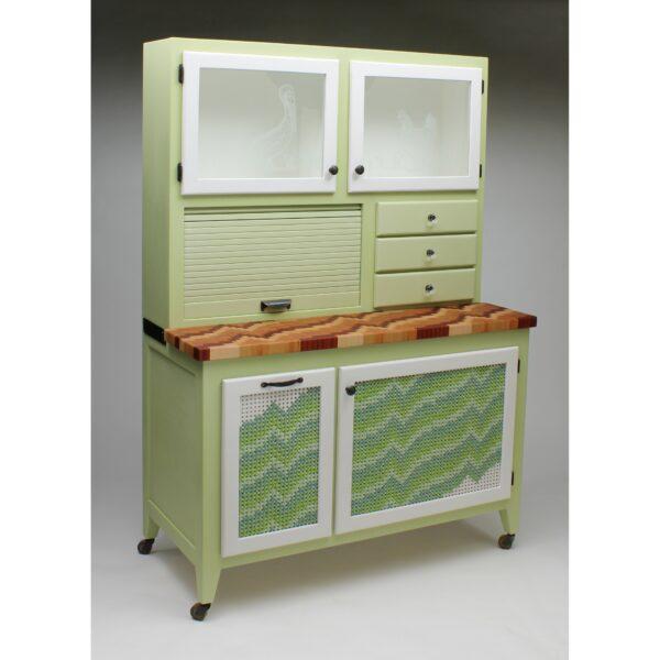 green refurbished hutch
