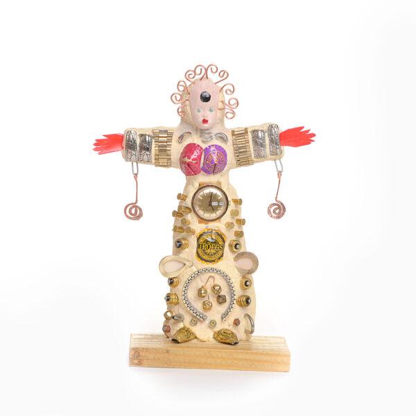 found object voo doo woman sculpture