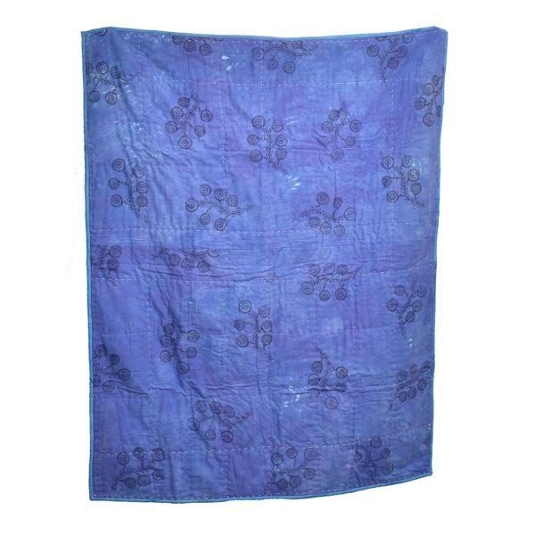 purple patchwork lap quilt
