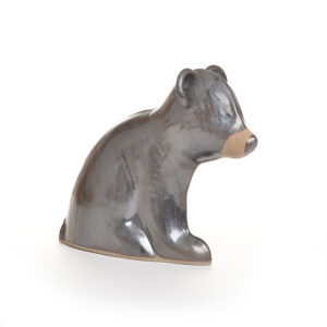black bear handmade ceramic sculpture