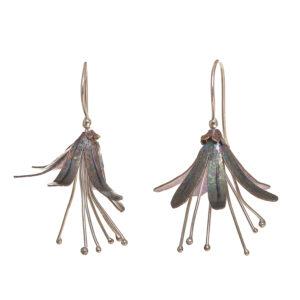 titanium flower earrings