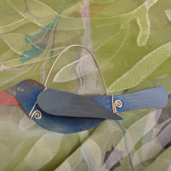 blue bird titanium pin