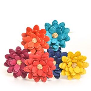 large flowers made using sunflower seeds