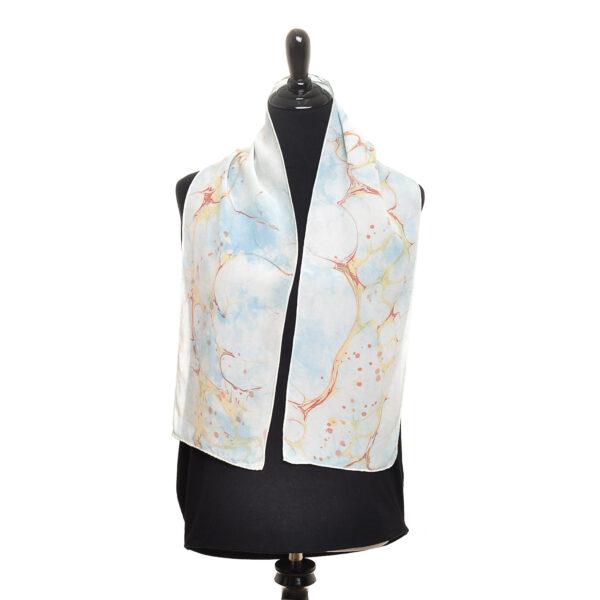 indigo shibori marbled scarf