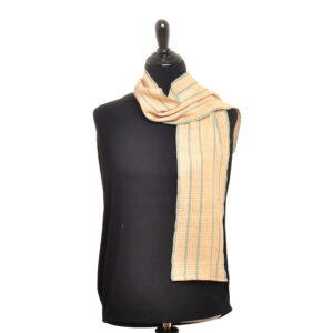 handwoven yellow lace scarf