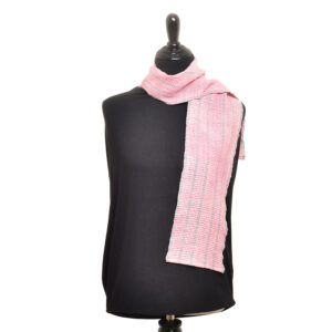 handwoven pink lace scarf