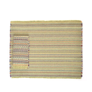 APPLE GREEN HANDMADE woven placemat and napkin