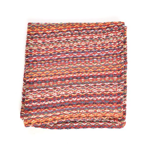 red cotton handmade dish cloth