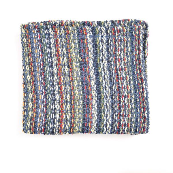 slate blue handmade cotton dish cloth