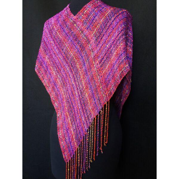 magenta pink handwoven swoop wrap