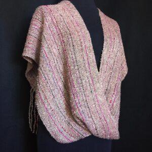 lavender handwoven swoop wrap shawl