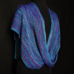 teal and purple handwoven infinity wrap