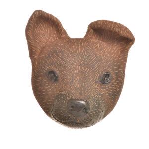 handmade dog head for the wall