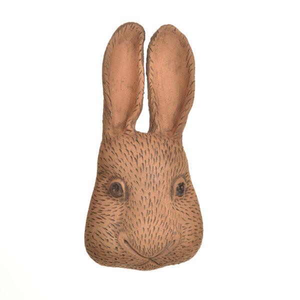 handmade bunny rabbit head for the wall