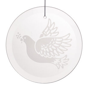 peace dove glass etched ornament