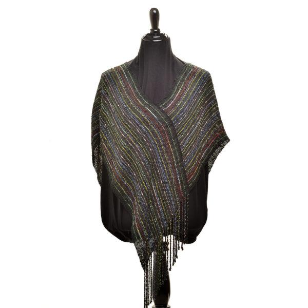 black hand woven shawl