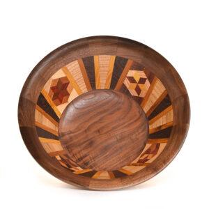 segmented wooden bowl #1079