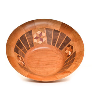 segmented wooden bowl #1066