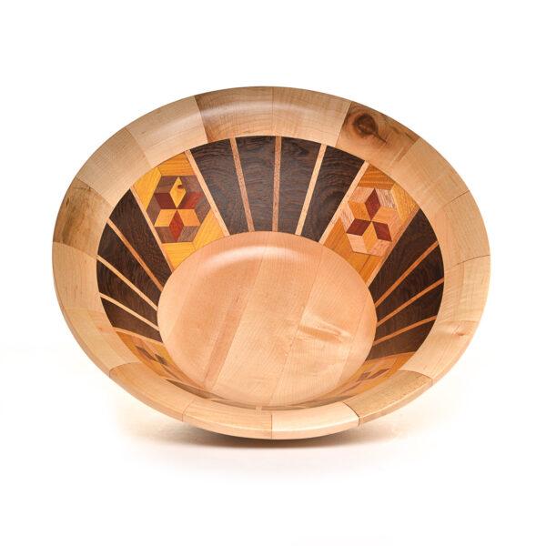Segmented wooden bowl #1074