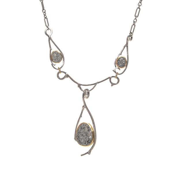twig three riverstone necklace