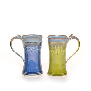 blue or green 12 oz stamped mug