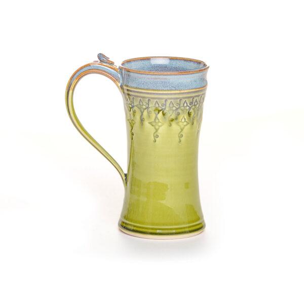green 12 oz stamped mug