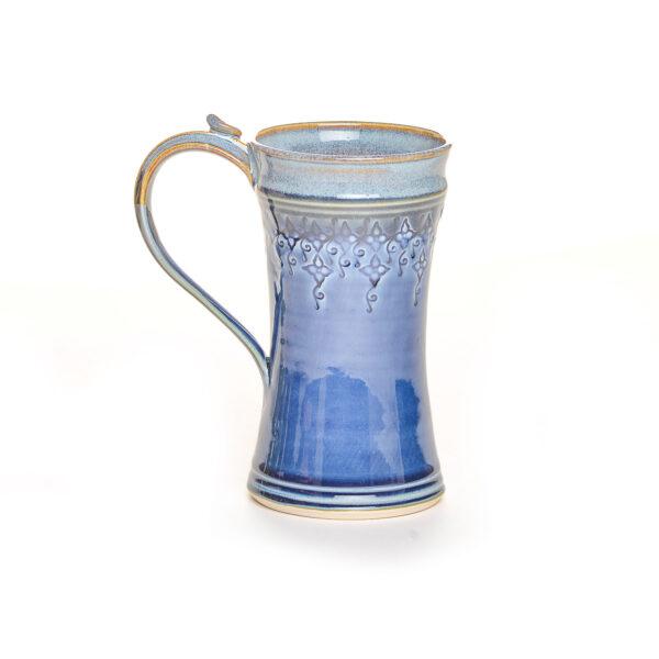 blue 12 oz stamped mug