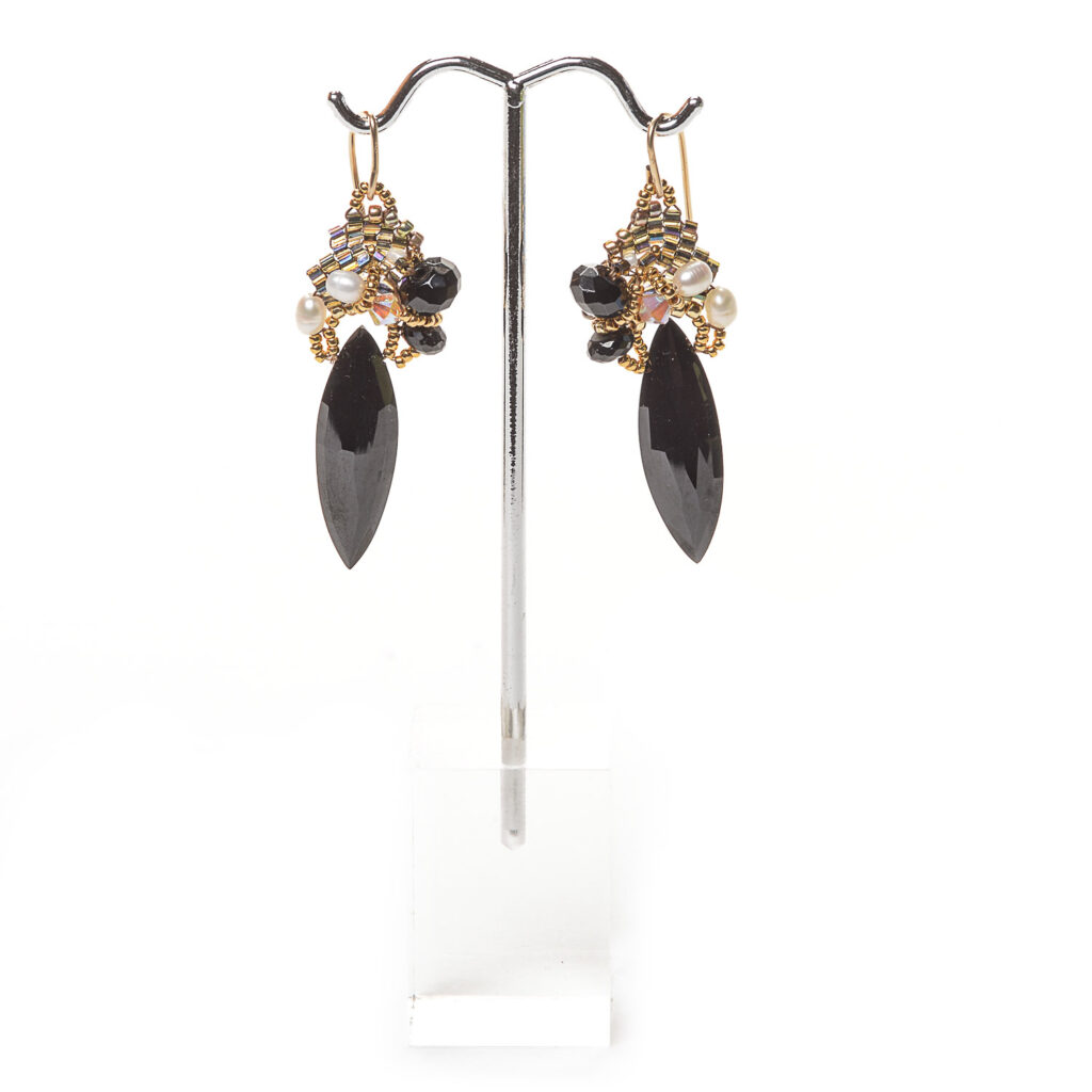 midnight celebration earrings by amolia willowsong